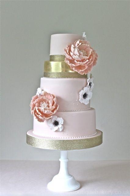 My sister's AMAZING Pink Peony & Anemone Wedding Cake