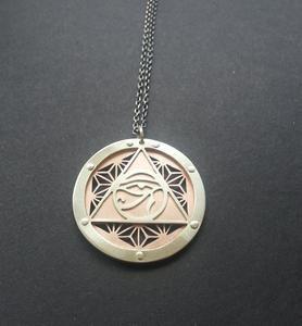 Asanoha Eye of Ra Pendant