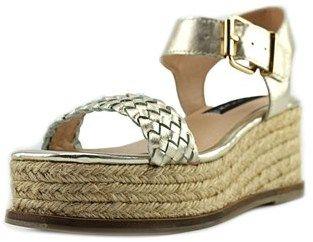 Steven Steve Madden Sabble Open Toe Leather Platform Sandal.