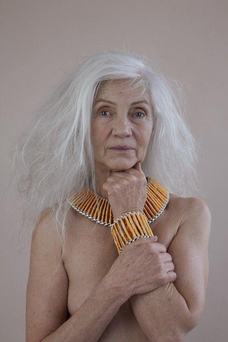 White hair nude women