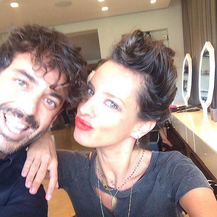 Red lips / Twisted Braid Shoprano aka Chrisstiana Andriopoulou Hair + make up by Panos Kallitsis