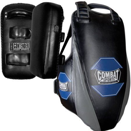 Combat Sports MMA Coach Bundle, Black/Blue