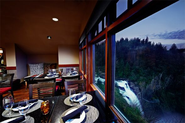 (PHOTO: Salish Lodge & Spa/Trivago)  Spooky hotels from horror films  Would you stay in these scary hotels for Halloween?:  Salish Lodge & Spa, Snoqualmie, USA (The Great Northern Hotel in Twin Peaks, 1990)  Located next to the impressive Snoqualmie Falls in the state of Washington, the Salish Lodge & Spa is most recognisable as the Great Northern Hotel in the cult murder-mystery classic Twin Peaks, which is set to return to TV screens in 2016. In the series, the hotel welcomes FBI...