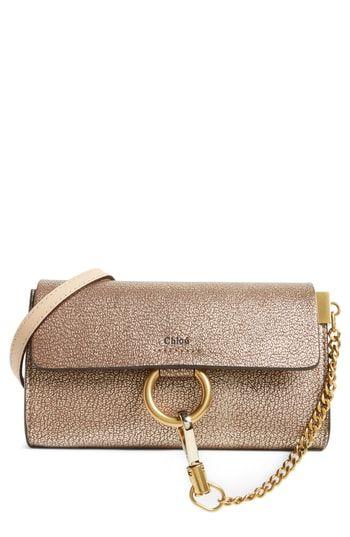 Chloé Nano Faye Metallic Leather Shoulder Bag  85c3aa912