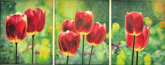 tulips by ~pavalo on deviantART.  Commisioned by a private collector.