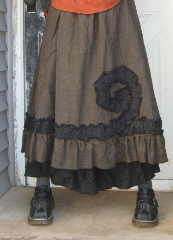 Ruffle Swirl Skirt by sarahclemensclothing on Etsy, $99.00