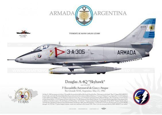Argentine Sky Hawk Attack Bomber.