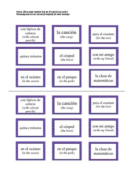 english speaking sentence structure pdf