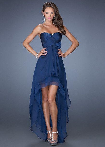 navy dress high-low dresses prom dresses high low prom dress dress