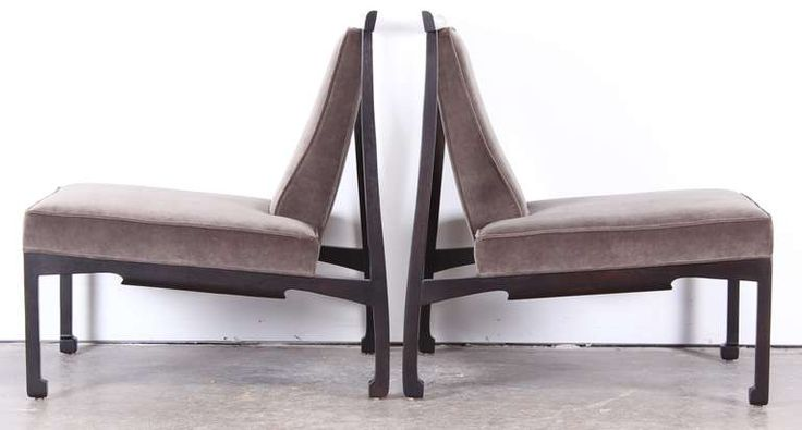 Pair of James Mont Style Asian Lounge Chairs image 8