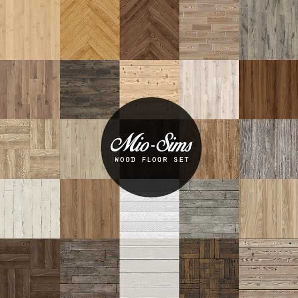 Mio Sims: Wood floor set
