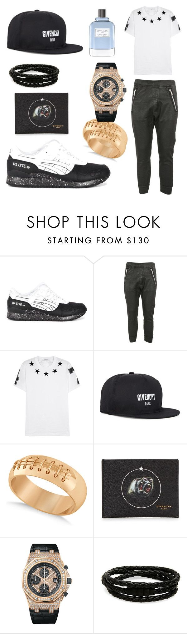 """""""Givenchy Everything"""" by michaelmartin714 ❤ liked on Polyvore featuring Asics, Dsquared2, Givenchy, Allurez, Audemars Piguet, Porsche Design, men's fashion and menswear"""