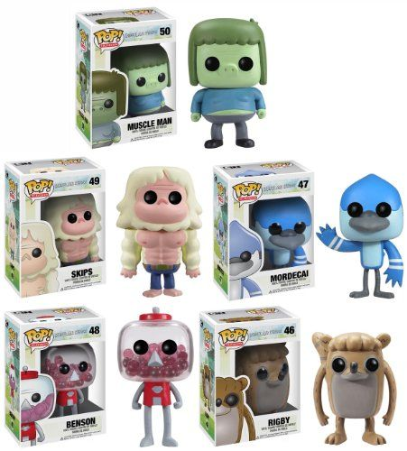 Regular Show Pop TV Vinyl Figures Set Of 5 FunKo