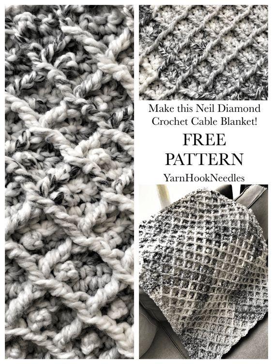 Contemporáneo Crochet Patrón De Cable Afgano Patrón - Ideas de ...