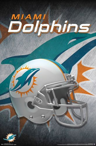 Miami Dolphins Team | Miami Dolphins Official NFL Football Team Helmet Logo Poster - Trends ...