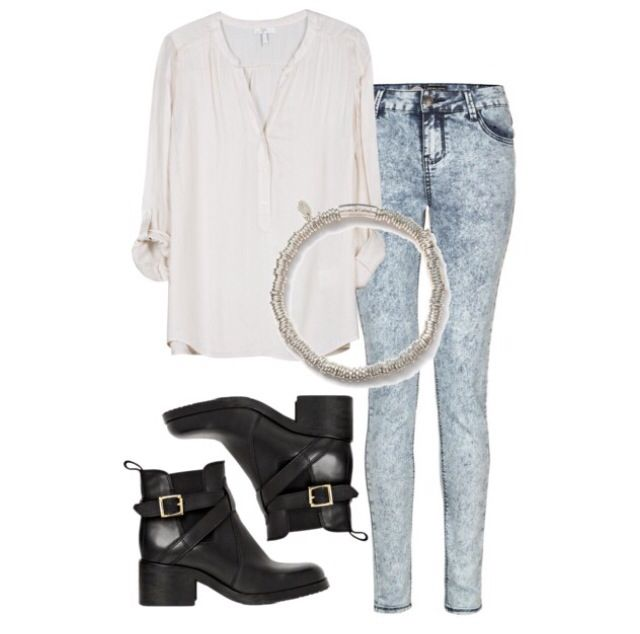 Outfit with acid wash jeans x