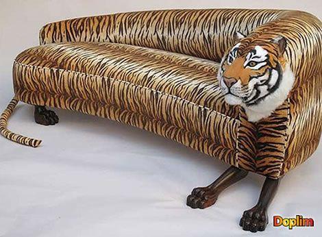 Sillón tigre Doseños originales si los hay! exisitá un zoológico de sillones?