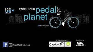 Tata Motors along with Cyclone Cycling Club & Dreams NGO, have organised 'Pedal for the Planet,' a cycling event, to create awareness about Earth Hour 2014 in Ahmedabad.