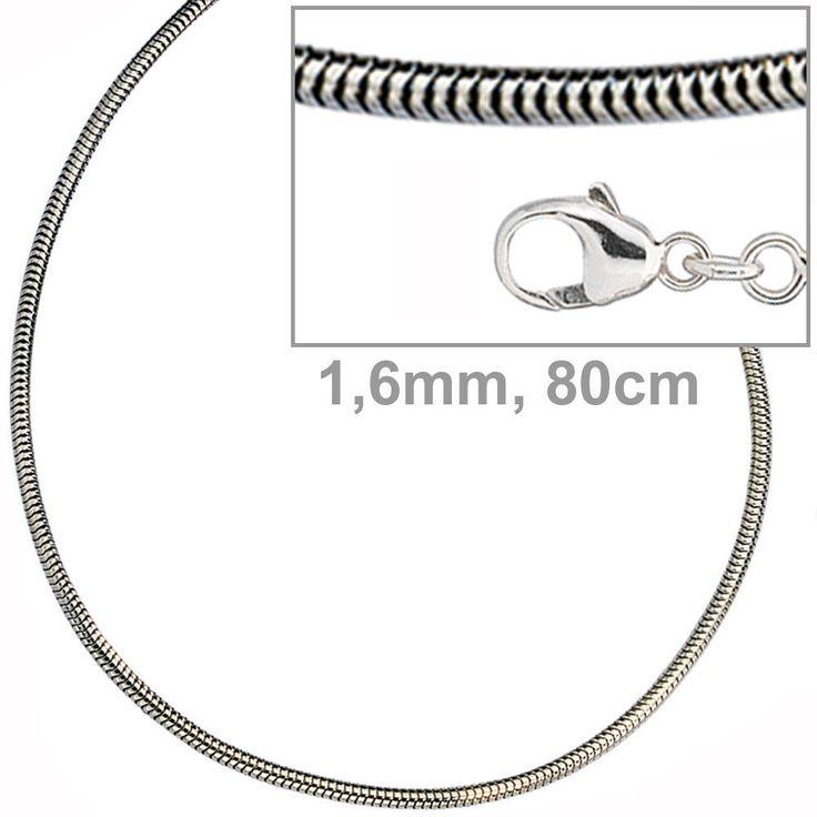 Schlangenkette 925 Silber 1,6 mm 80 cm Halskette Kette Silberkette Karabiner http://www.ebay.de/itm/Schlangenkette-925-Silber-1-6-mm-80-cm-Halskette-Kette-Silberkette-Karabiner-/162513779220?ssPageName=STRK:MESE:IT