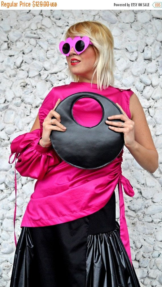 ON SALE 20% OFF Extravagant Leather Bag / Genuine Leather Bag / Funky Black Tote / Genuine Leather Tote / Extravagant Tote Tlb06 / Urban Mus