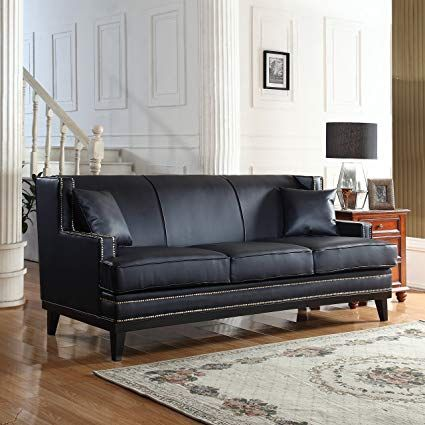 Divano Roma Furniture Modern Bonded Leather Sofa with