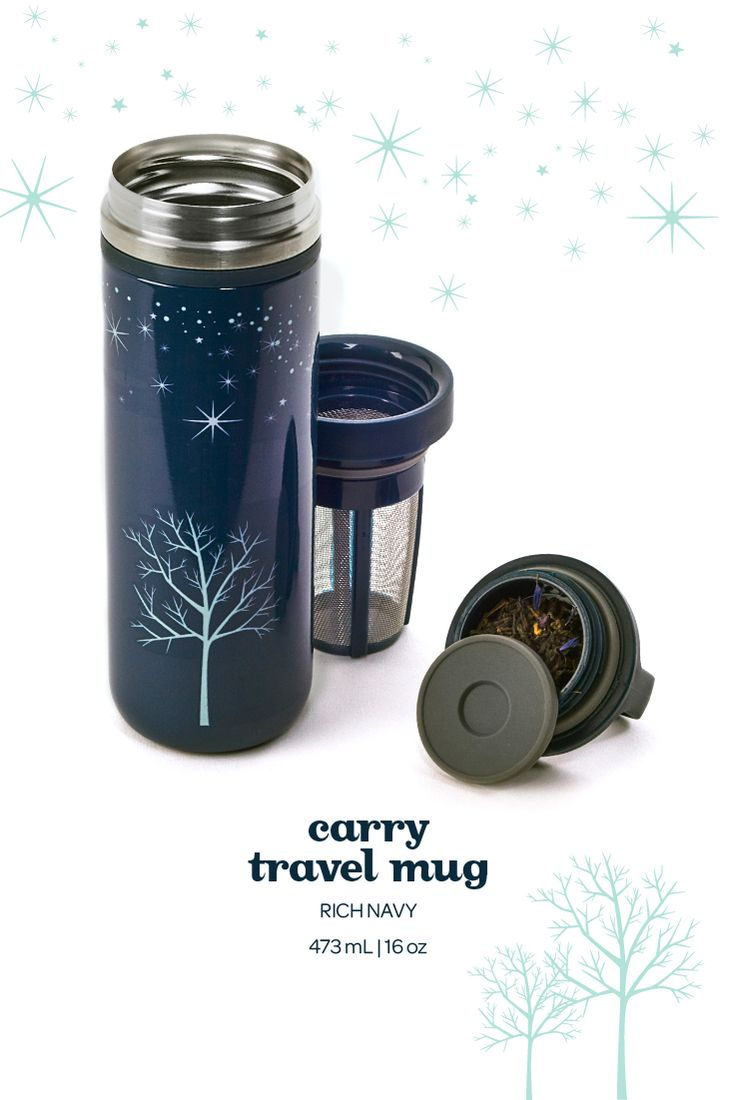 Carry Travel Mug - Rich Navy. Not only is this pretty light pink travel mug 100% leakproof, it also keeps your tea hot for hours on end.