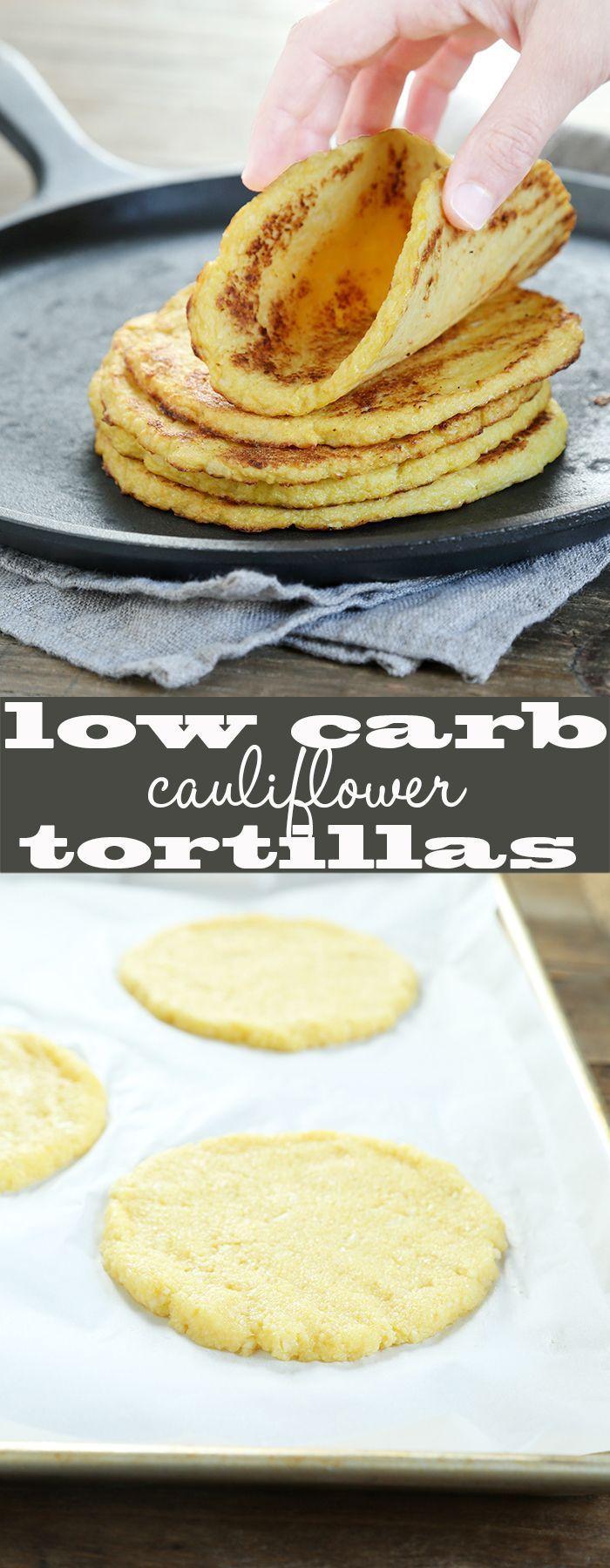 Holen Sie sich dieses getestete Rezept für kohlenhydratarme, getreidefreie Blumenkohl-Tortillas. Nur 3 si …   – Cauliflower recipes