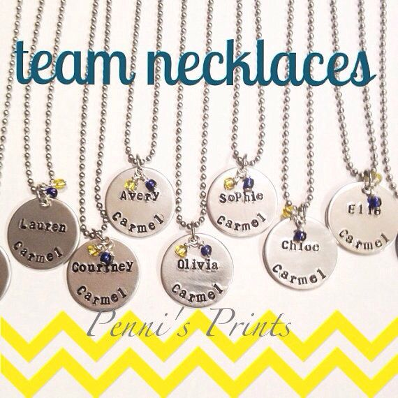 Hey, I found this really awesome Etsy listing at https://www.etsy.com/listing/165290104/team-necklaces-with-school-colors-school