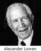 Dr. Alexander Lowen (December 23, 1910 – October 28, 2008) was an American psychotherapist. A student of Wilhelm Reich in the 1940s and early 1950s in New York, he developed Bioenergetic Analysis, a form of mind-body psychotherapy, with his then-colleague, John Pierrakos (February 8, 1921 – February 1, 2001). Lowen was the founder and former executive director of the International Institute for Bioenergetic Analysis in New York City.