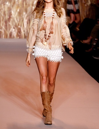 fashforfashion: Boho Chic, Fashion, Clothes, Behati Prinsloo, Sui Spring, Bohemian Style, Boho Style, Spring 2011, Anna Sui