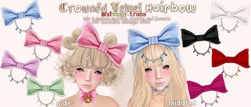 .tsg. Crowned Jewel Hairbow