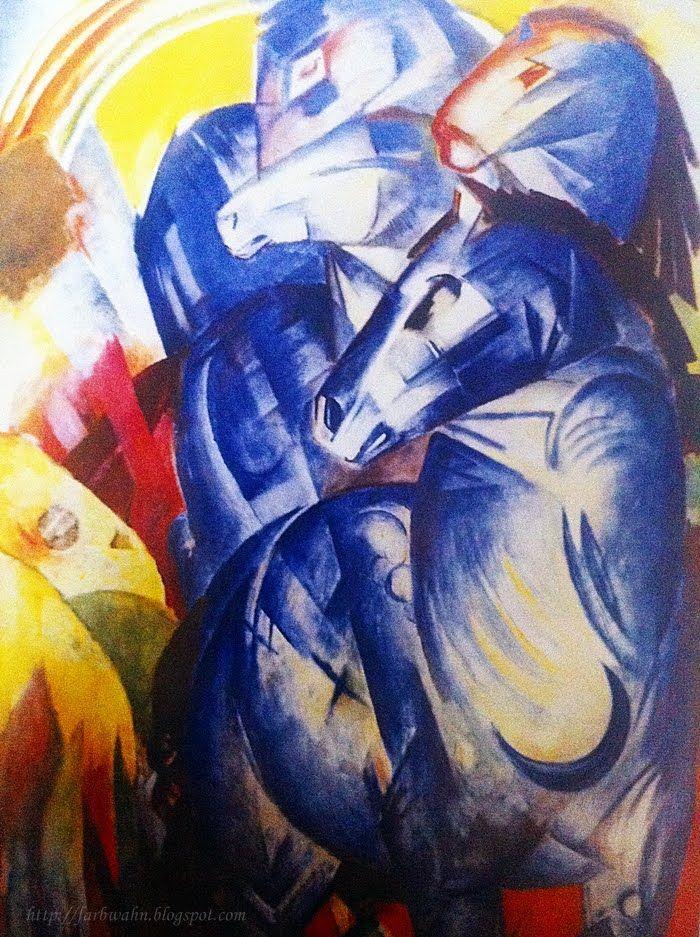 Farbwahn - Das Kunst Journal: Bildbeschreibung: Franz Marc - Der Turm der blauen...