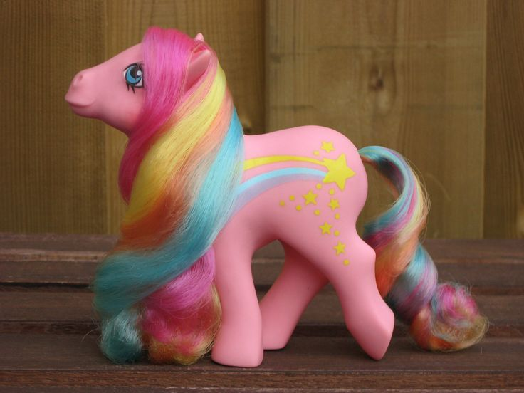 "RESERVED Vintage My Little Pony Rainbow Curl Pony ""Stripes."" $12.00, via Etsy."