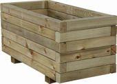 Jardinera de madera rectangular