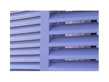 Available from Open Shutters, Heritage exterior timber louvres provide a traditional look and distinctive style to any home.