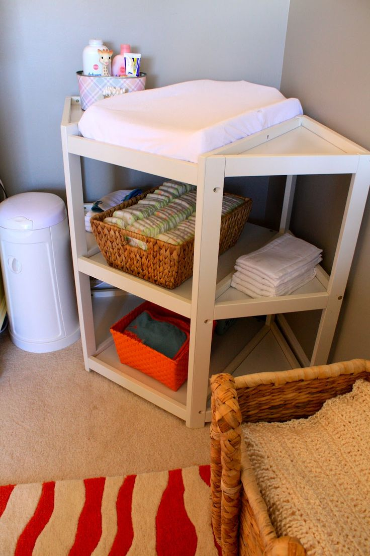 best  corner changing tables ideas on pinterest  corner desks  - using a rack as a baby corner changing table  httpwww