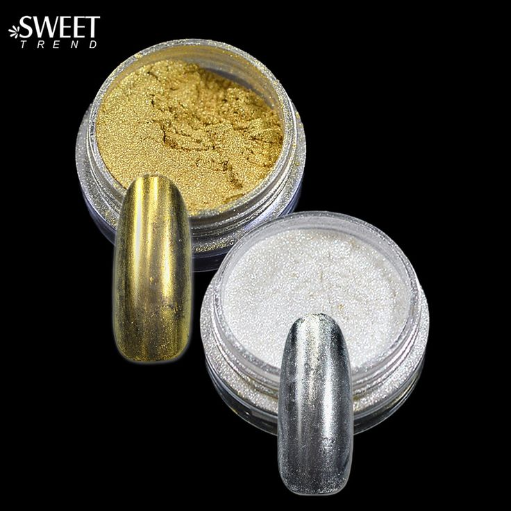 Buy Fashion 1g Shining Magic Mirror Nail Glitter Powder + Brush Gorgeous Nail Art Chrome Pigment Glitter Mirror Nail Glitter #02 #04 at JacLauren.com
