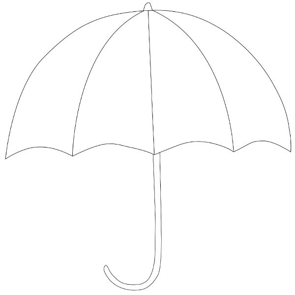 1190 best images about sz on pinterest leaves for Printable umbrella template for preschool