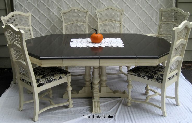 annie sloan chalk painted pedestal tables - Google Search