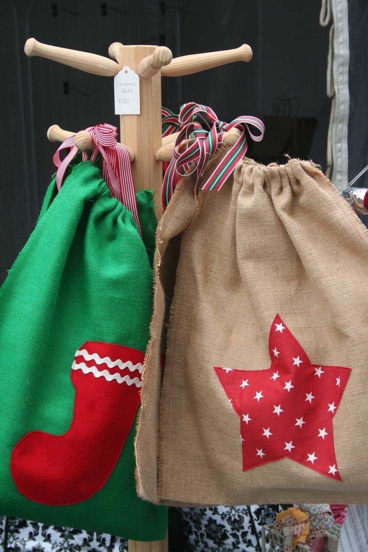 Blossom Handmade Christmas sacks
