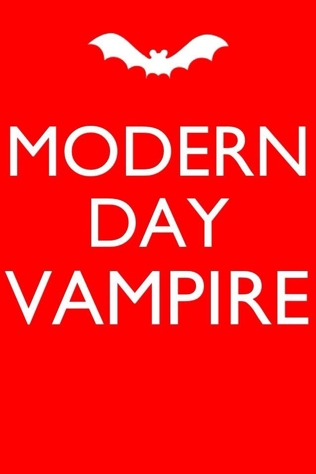 Modern Day Vampire :) Perfect cover for my phlebotomy board!
