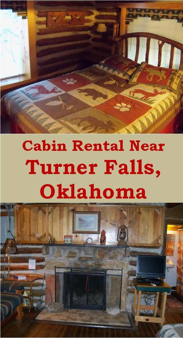Cabin Rental Near Turner Falls, Oklahoma.  Cedar Falls Cabins are located along a secluded gravel road, nestled along a hillside overlooking crystal clear Honey Creek, just north of the entrance to Turner Falls Park. Visit our website for cabin and contact information.