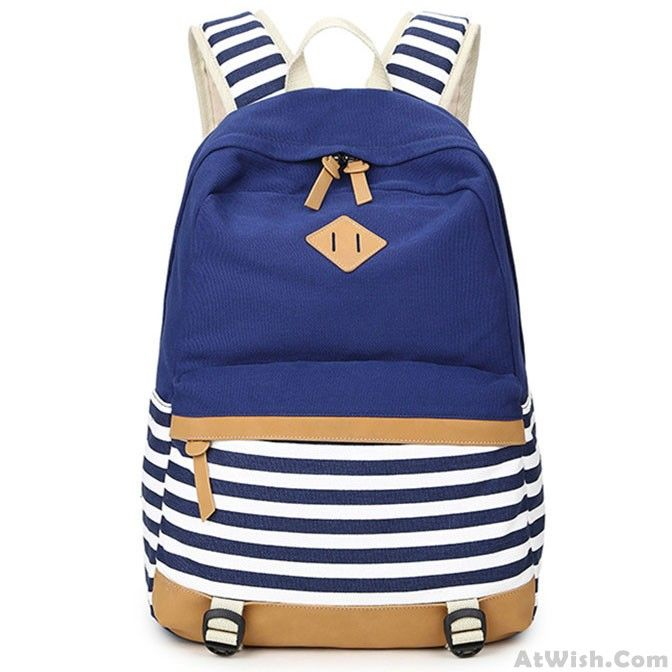 Wow~ Awesome Fresh Splice Striped Trunk Travel Rucksack School Canvas Backpack! It only $32.99 at www.AtWish.com! I like it so much<3<3!