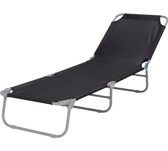 Buy Black Foldable Multi Position Sun Lounger At Argos.co.uk, Visit. Folding  Sun LoungersGarden ChairsGarden ... Part 14
