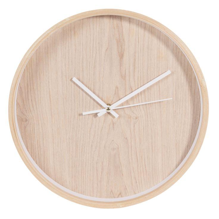 Reloj de madera ø 31 cm anders