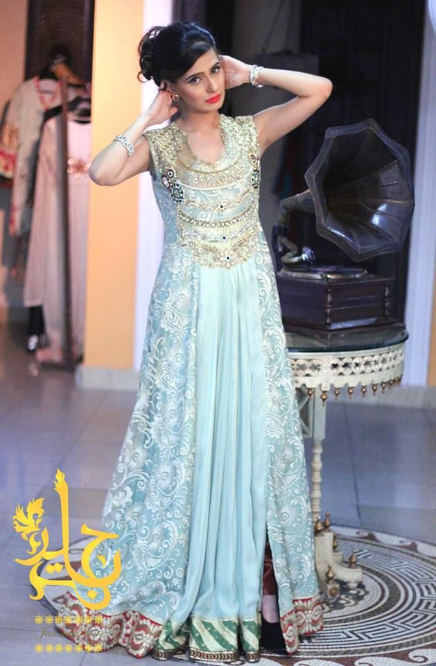 Latest Party Wear & Fancy Wedding Frock Designs Collection 2016-2017 (37)