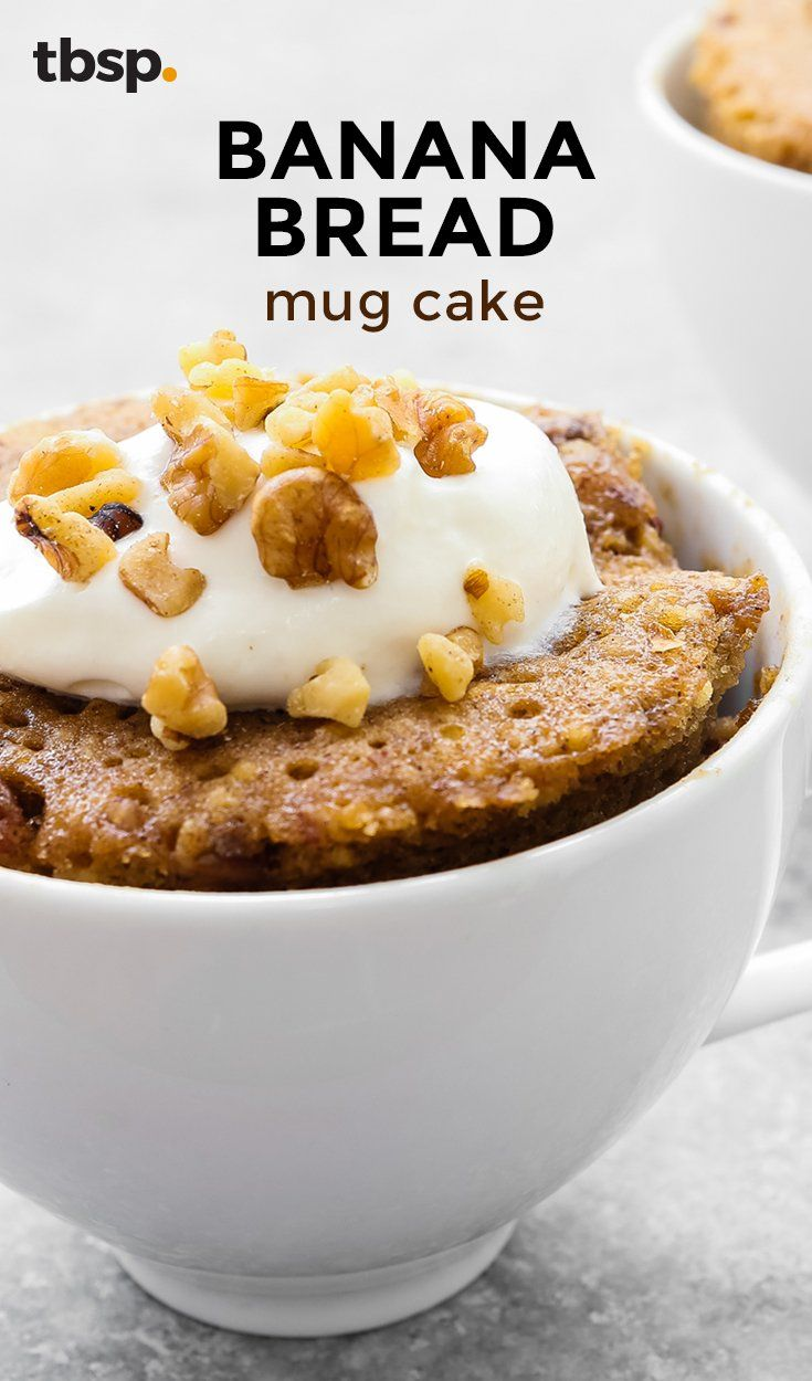 Moist, sweet and packed with pure banana flavor, this might just be the best mug cake you've ever tasted. (Seriously though.)