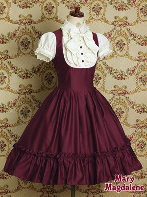 Mary Magdalene Antella one piece in wine #lolita