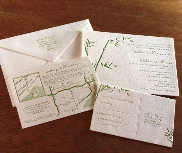 61 best invitation design lucky bamboo images on Pinterest