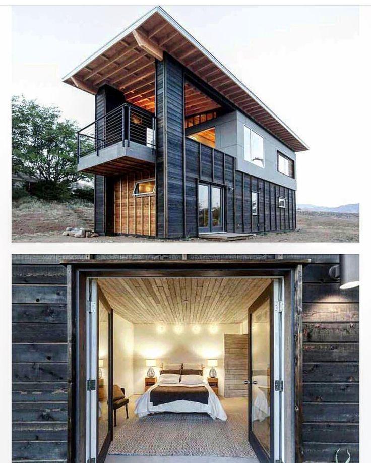 2х этажный дом из морских контейнеров ? Панорамное остекление с террасой ? Срок строительства 3 месяца ? ? Project by @jaguarcontainers ?…